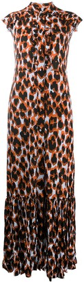 Golden Goose Leopard-Print Maxi Dress