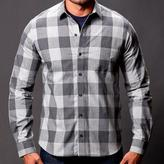 Blade + Blue Tonal Grey Buffalo Plaid Shirt - Crofton