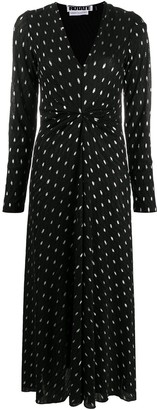 Rotate by Birger Christensen Polka-Dot Print Dress