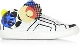Pierre Hardy Multicolor White Leather Sneaker