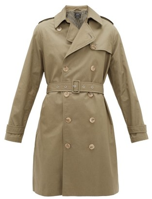 A.P.C. Josephine Double-breasted Cotton Trench Coat - Womens - Khaki
