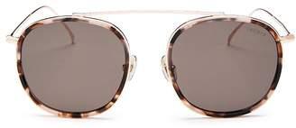 Illesteva Unisex Mykonos Ace Brow Bar Aviator Sunglasses, 52mm