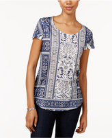 Style&Co. Style & Co. Petite Printed T-Shirt, Only at Macy's
