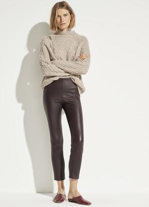 Leather Stitch Front Legging