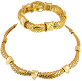 One Kings Lane Vintage Boucher Gold Nailhead Necklace Suite