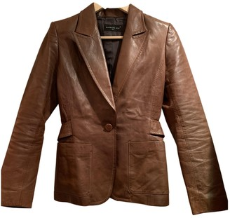Barbara Bui Brown Leather Leather Jacket for Women