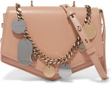Jimmy Choo Arrow Embellished Textured-leather Shoulder Bag - Beige
