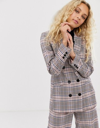 InWear Adalia check tailored blazer