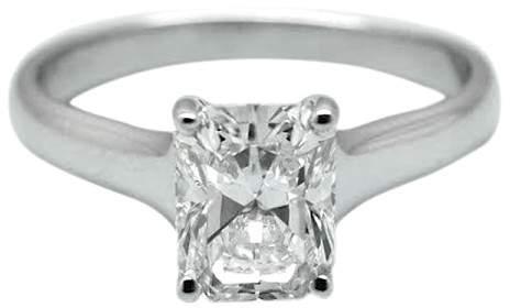 Tiffany & Co. Lucida 1.70ct Diamond Platinum Engagement Ring Size 6.0