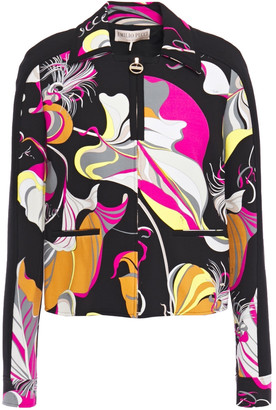 Emilio Pucci Printed Stretch-jersey Jacket