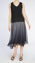 Komarov Chevron Pleated Skirt