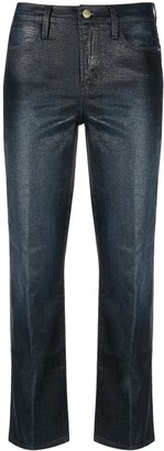 Frame Cropped Skinny-Fit Trousers