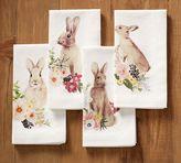 Pottery Barn Floral Bunny Napkin, Mixed Set of 4
