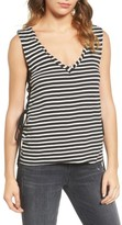 Pam & Gela Women's Stripe Lace-Up Tank