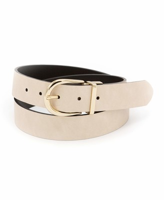 Calvin Klein Women's 35MM Flat Reversible Strap Belt