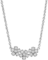 Jennifer Meyer Three Diamond Flower Necklace - White Gold