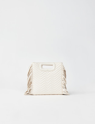 Maje Quilted leather mini M bag with chain