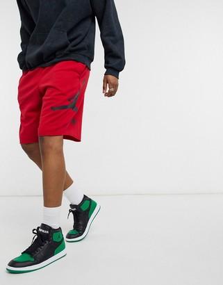 Jordan Nike jersey shorts in red
