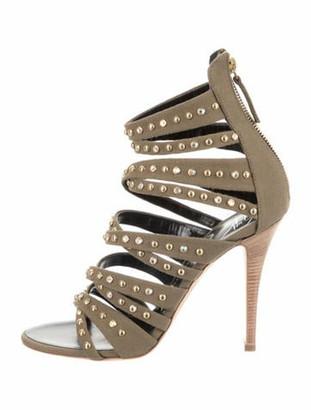 Giuseppe Zanotti Embellished Open-Toe Sandals w/ Tags Green