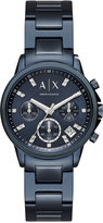 Armani Exchange A|X Women's Chronograph Lady Banks Blue-Tone Stainless Steel Bracelet Watch 36mm AX4337