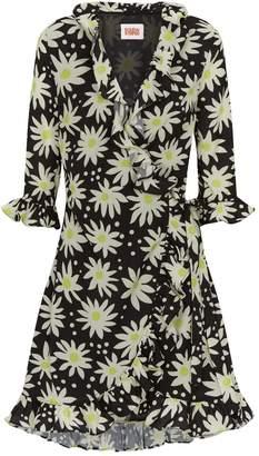 Solid & Striped Daisy Print Wrap Dress