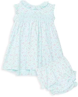 Kissy Kissy Baby Girl's Dusty Rose 2-Piece Ruffle-Trim Dress & Bloomer Set