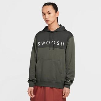 Nike Swoosh Cotton Mix Hoodie with Logo