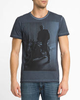 Wrangler Faded Navy Printed Photo Round-Neck T-Shirt