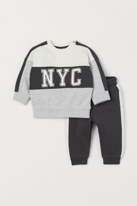 H&M Sweatshirt and Joggers - Gray
