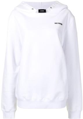 we11done Logo-Print Cotton Hoodie