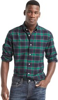 Gap Oxford holiday plaid standard fit shirt