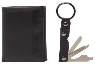 Kenneth Cole Reaction Wallet & Multi Tool Keychain Set