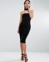 Asos Velvet Choker Midi Pencil Dress