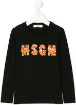 MSGM embellished logo top