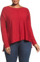 Eileen Fisher Merino Jersey Boxy Top (Plus Size)