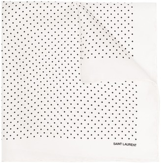 Saint Laurent Polka Dot Print Handkerchief