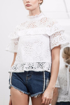 J.o.a. Ruffle Lace Top