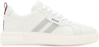 Bally Leather Low-Top Sneakers W/ Stripes
