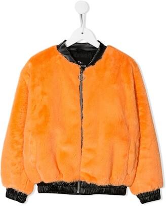 Andorine Faux Fur Bomber Jacket