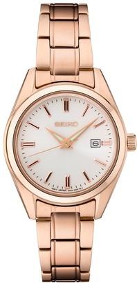 Seiko Women's Essentials Rose Gold-Tone Stainless Steel Watch - SUR630