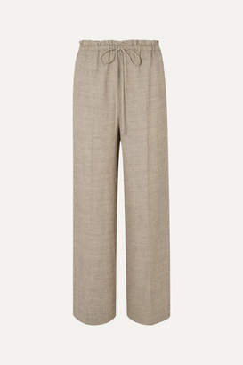 The Row Wool And Silk-blend Wide-leg Pants - Beige