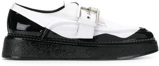 No.21 two tone buckled loafers