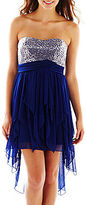 My Michelle Sequin High-Low Ruffle Dress