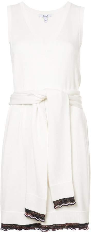 Derek Lam 10 Crosby Sleeveless Tie-Waist Knit Dress