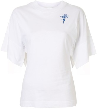Cédric Charlier embroidered thistle crewneck T-shirt