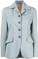 Romeo Gigli Pre Owned belted slim-fit blazer