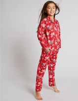 Marks and Spencer Pure Cotton All Over Print Pyjamas (1-16 Years)