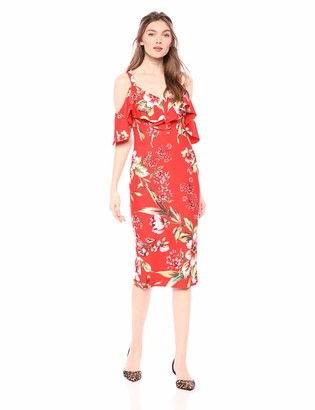 Rachel Roy Women's Printed Marcella Midi Dress