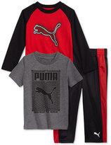 Puma 3-Pc. Shirt, T-Shirt and Pants Set, Toddler Boys (2T-5T)