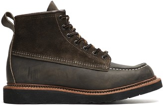 Red Wing Shoes Exclusive X Todd Snyder Moc Toe Boot in Charcoal